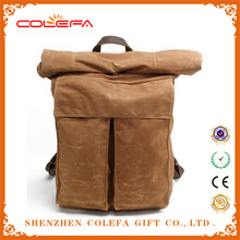 Fashion Street Style Batik Canvas Backpack Bag for Men