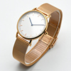 High quality OEM custom logo unisex watch rose gold plated metal mesh band watch