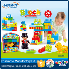 Educational 26PCS plastic building brick toy for boys