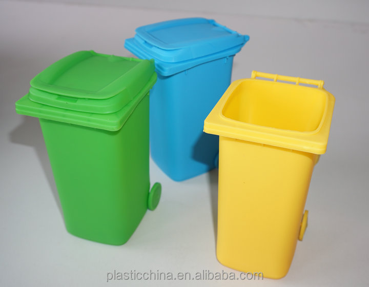 NEW DESIGN Standing Structure and office Usage plastic funny wheelie garbage can