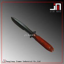 Spear Point Double Edge Black Coated Blade Hunting Knife