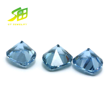 factory price Pear shape loose synthetic Blue Topaz zircon Stone