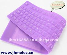109 keys roll up full size flexible waterproof keyboard with touch pad