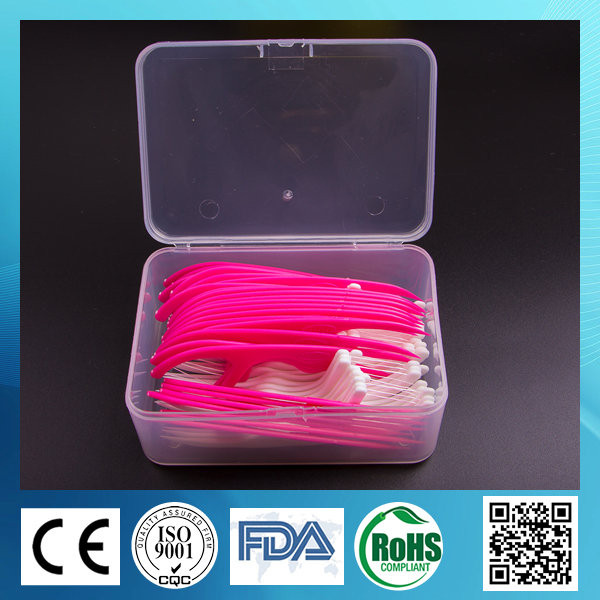 PS Handle Dental Floss Pick keep oral hygiene plastic toothpicks with brush