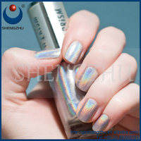Gold quality SZR96001 Silver Holographic effect pigment for o p i nail polish powder