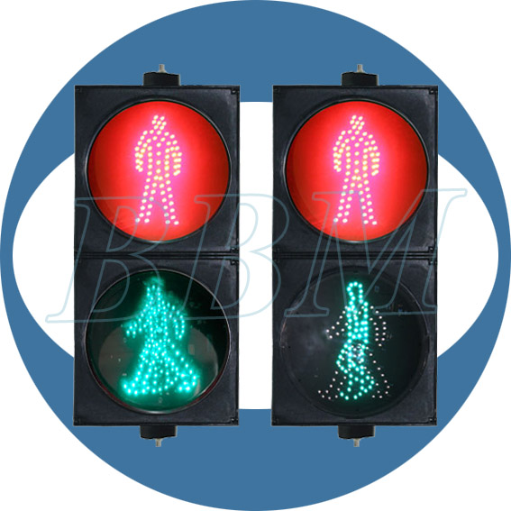 200mm pedestrian traffic signal head