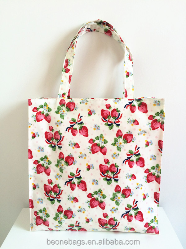 Fresh Flower Blank Canvas Wholesaler Reusable Laminated Shopping Tote Bag