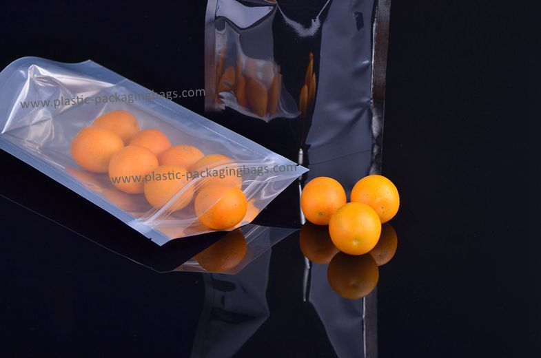 Resealable Stand up Bag/Customized Foil lined Transparent Nuts Bag