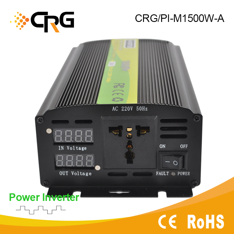 Mini 24V 220V Home and Car Use 1500W power inverter for Gel Battery