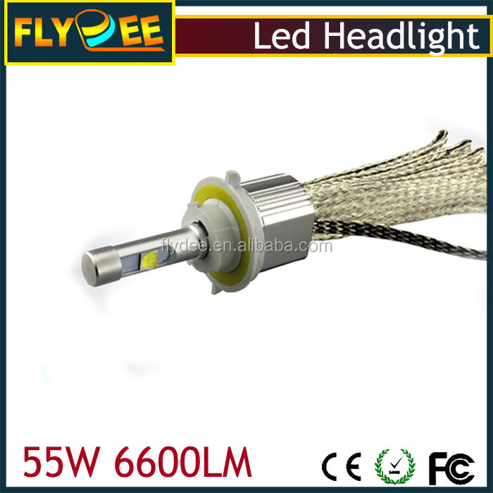 High power L7 9006 LED Car Headlight 55w 6600lm Crees XHP70 car LED Headlight kit 9005 H4 H11 H7 for automobile/motorcycle