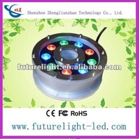 18W Waterproof High Power Multi Color DMX IP68 LED Underwater Swimming Pool Light