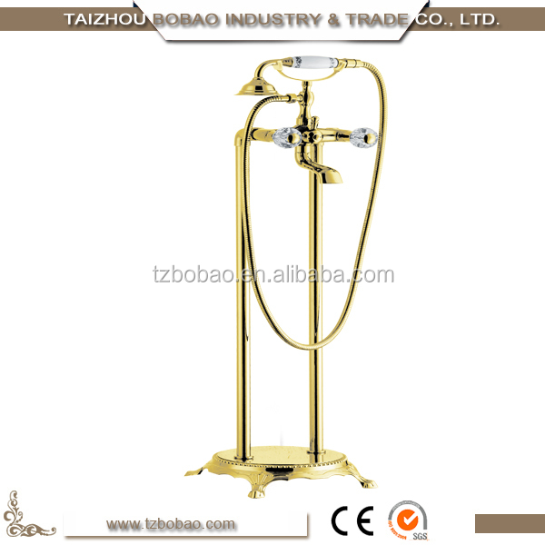 2017 Classic Longrun Bathtub Floor-Stand Rain Shower unique Faucet Wholesale