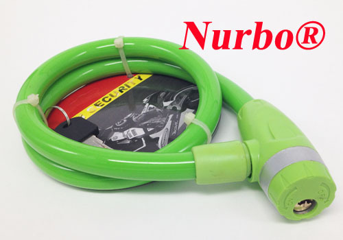 SL495 Nurbo colorful high quality steel bicycle cable lock key bicycle lock retractable cable lock trycycle lock