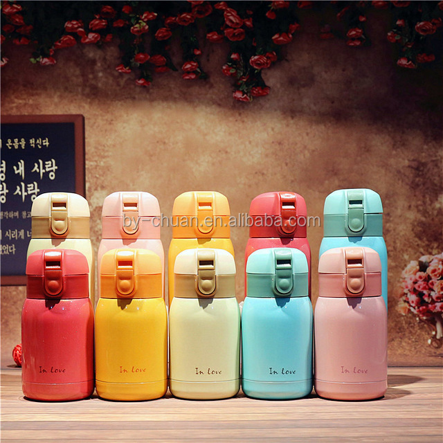 Cute Lovers Thermo Mug Stainless Steel Vacuum Flasks Thermos Coffee cup Travel Insulated Thermocup Thermal Bottle for Water