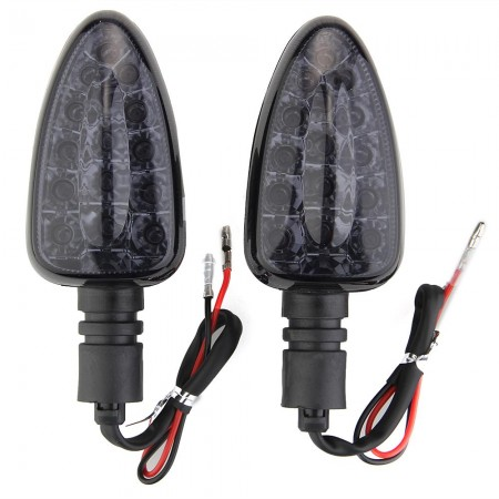 2 Motorcycle Yellow 15 LED Turn Signal Light Bulb for BMW Smoke Grey Lens