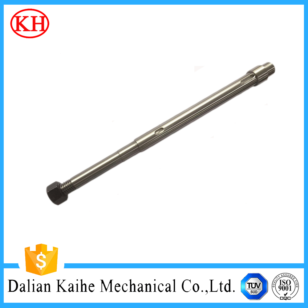 textile machinery parts pin threaded cube fasteners alloy parts stainless steel drive shaft cnc machining