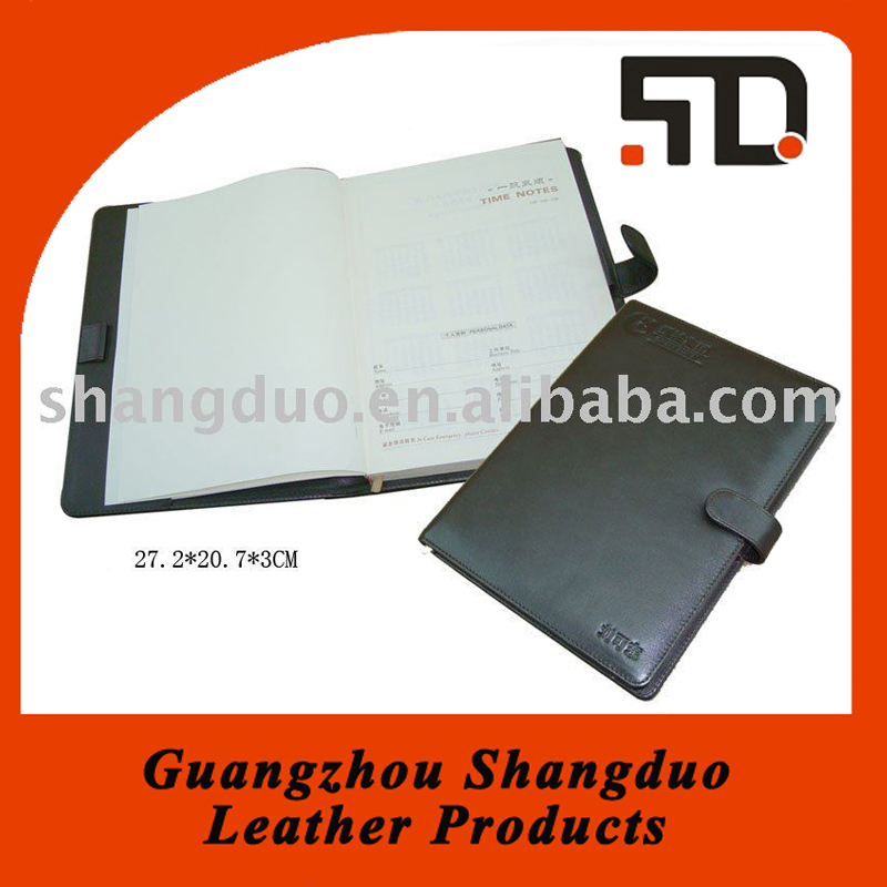 Alibaba China Supplier Leather Cover Handmade Paper File Folder