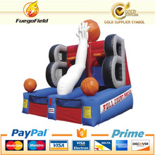 NEW!!inflatable basketball court/hot sale basketball shooting game machinet/2 players inflatable sport game for adult and kids