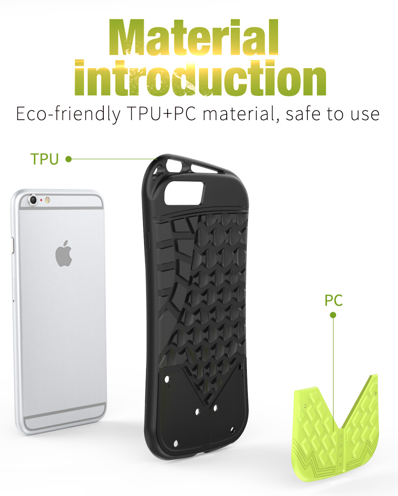 Unique Design anti-drop tpu pc back cover for iphone 8 plus protective case