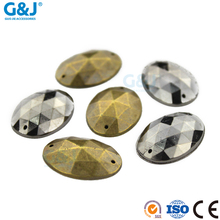 Guojie wholesale custom fashion eco-friendly colorful sew on flatback hotfix acrylic resin stone fack crystal rhinestone