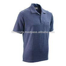 latest fashion 70% cotton 30% polyester plaid men polo t shirt
