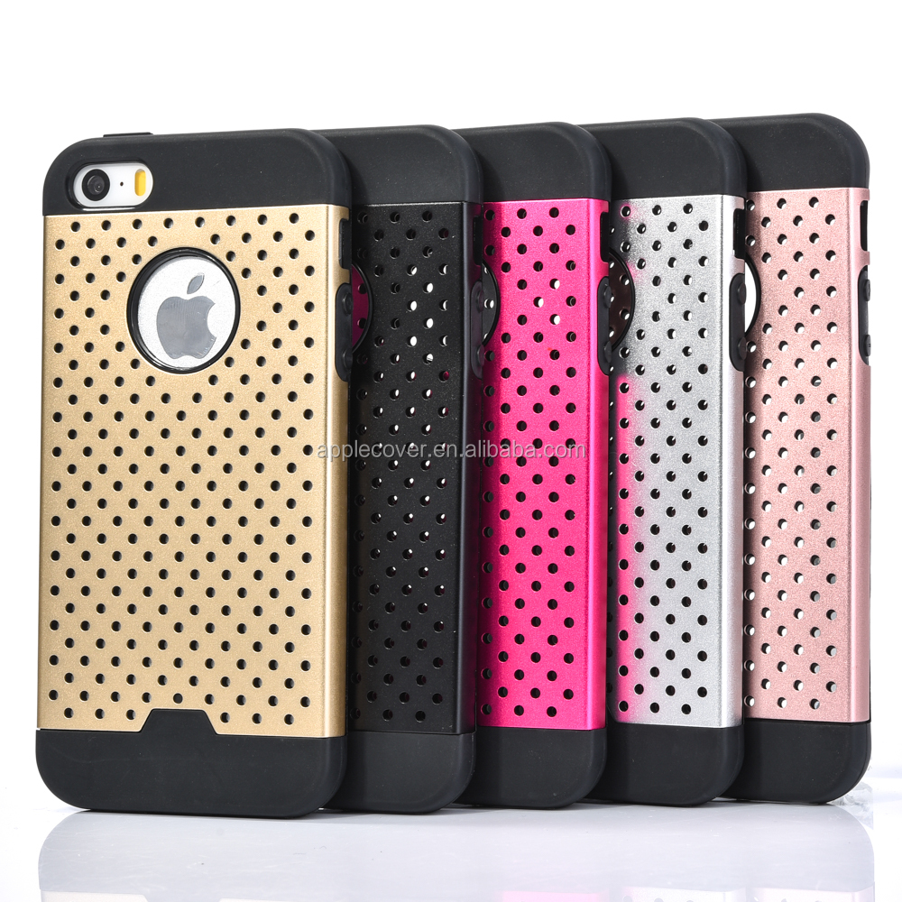 New Arrival Luruxy TPU + Metal Hollow Mixture Back Cover Case for iPhone 4/4s , for iphone 4/4s case 2 in 1
