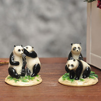Best Selling The Panda Statue Polyresin Mini Figurines Craft