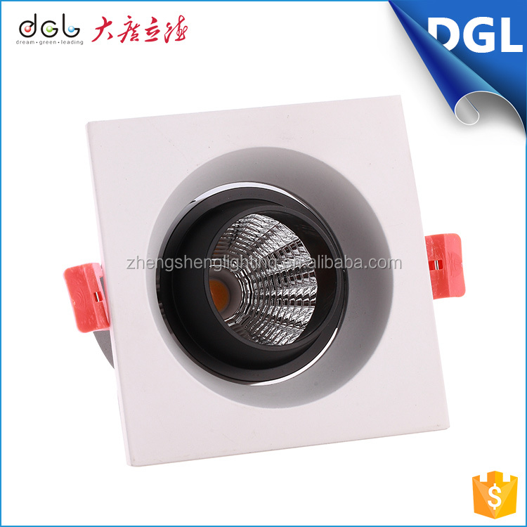 high power commercial lighting aluminum recessed 9w square led downlight retrofit