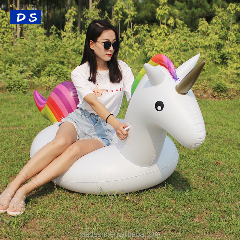Promotion Large inflatable unicorn float Swimming Pool Floaties