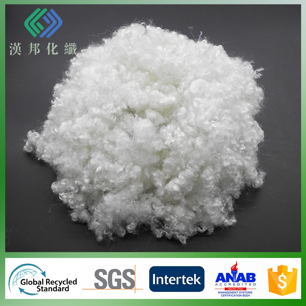 wholesale polyfill 23D/64mm recycled HC polyester staple fiber for stuffing sofa