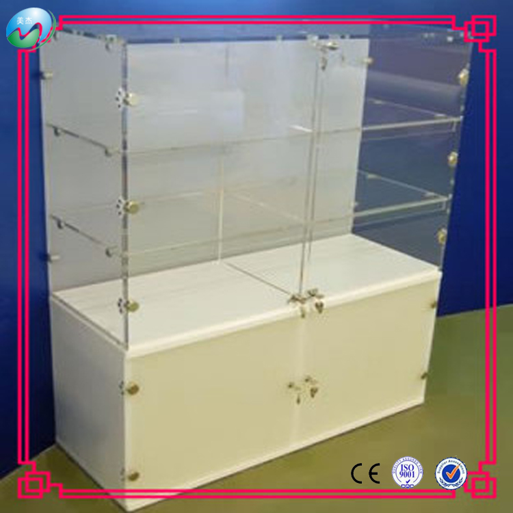 Wholesale custom modern clear large acrylic jewellery display cabinet