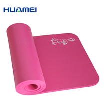 Pilates equipment 15mm yoga mat/rubber exercise mats with carrying strap
