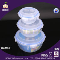 3PCS Set Plastic Food Container With Lock Lid