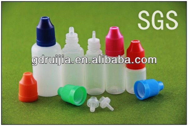 10ml mini plastic dropper bottles with childproof top
