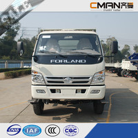 China foton 4x2 diesel fuel truck load of sand 5ton capacity hot sale