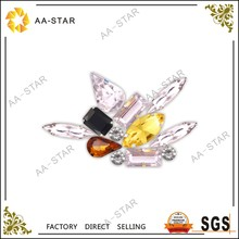 2018 new design crystal shoe clips acrylic stones