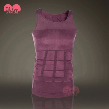 Comfort Body Shaper Purple Men Vest Underwear Brethable Shapewear