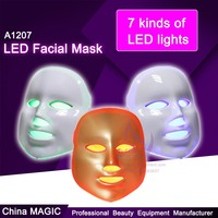 Fashionable 7 Color electronic heating led facial mask for skin rejuvenation