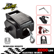Fast Speed Heavy Duty 2000lbs ATV and UTV Mini 12V Electric Winch