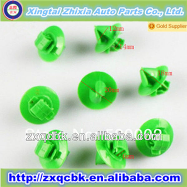 Zhixia newest style plastic fastener and clips of various color for general car motor