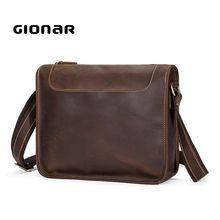 Brand Name Genuine Leather Crossbody bags Shoulder Bag Men Messenger