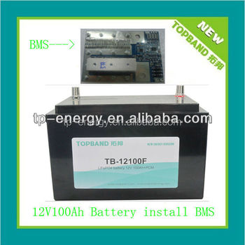 Long life lithium battery 12V 100AH for caravan