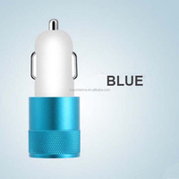 Colorful 3.1A Aluminum 2 Port Dual USB Car Charger,Multi Port USB Charger. for sale with factory price