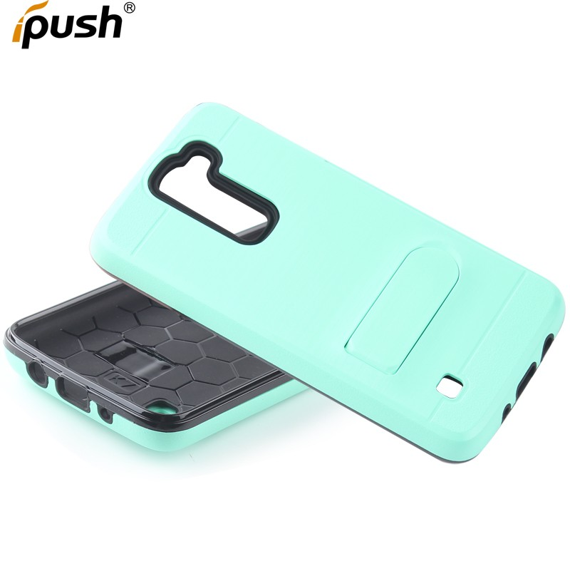 Phone Accessories Case Protective PC TPU Card Slot Hybrid Dual Layer Back Mobile Phone Cover for LG K7 With stand