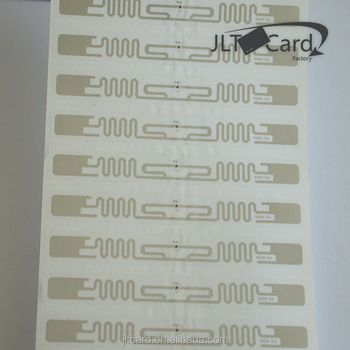 860-960mhz rfid tag Library Book Management, Uhf Rfid sticker Tag