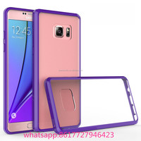 shockproof tpu +pc clear hard back bumper case for Samsung Galaxy Note 8