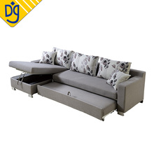 Extension wooden frame storage sofa bed designs