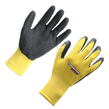 Construction half dip top latex gloves