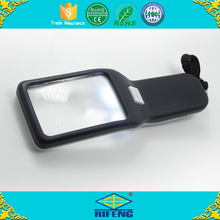 Reading 5X magnifier square magnifying glass led light