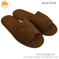 hot sale cotton waffle hotel slipper